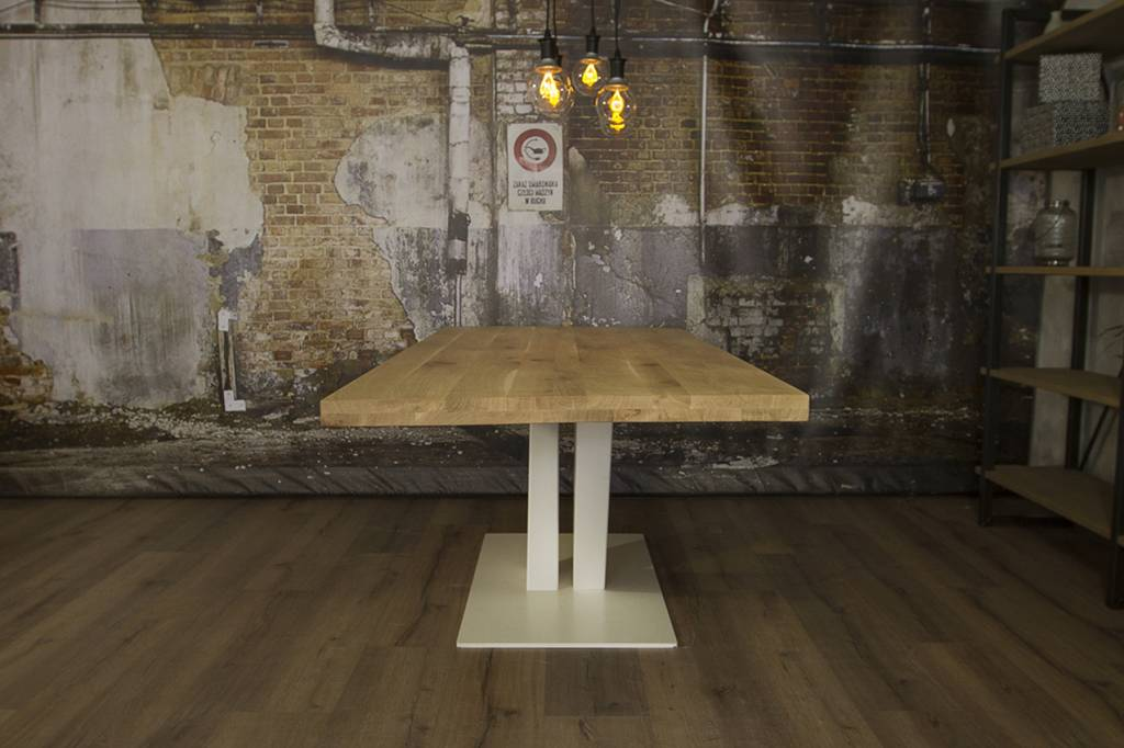 Industriële houten tafel v robuuste tafels mv kantoor
