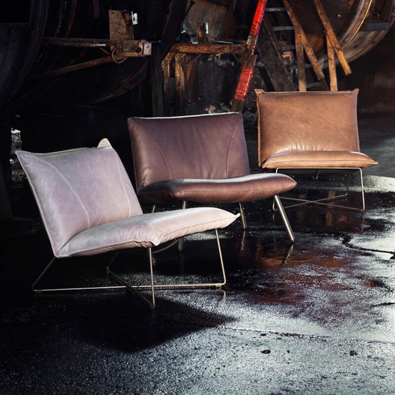 Fauteuil Design Leer.Loungestoel Earl Leren Stoel Mv Kantoor
