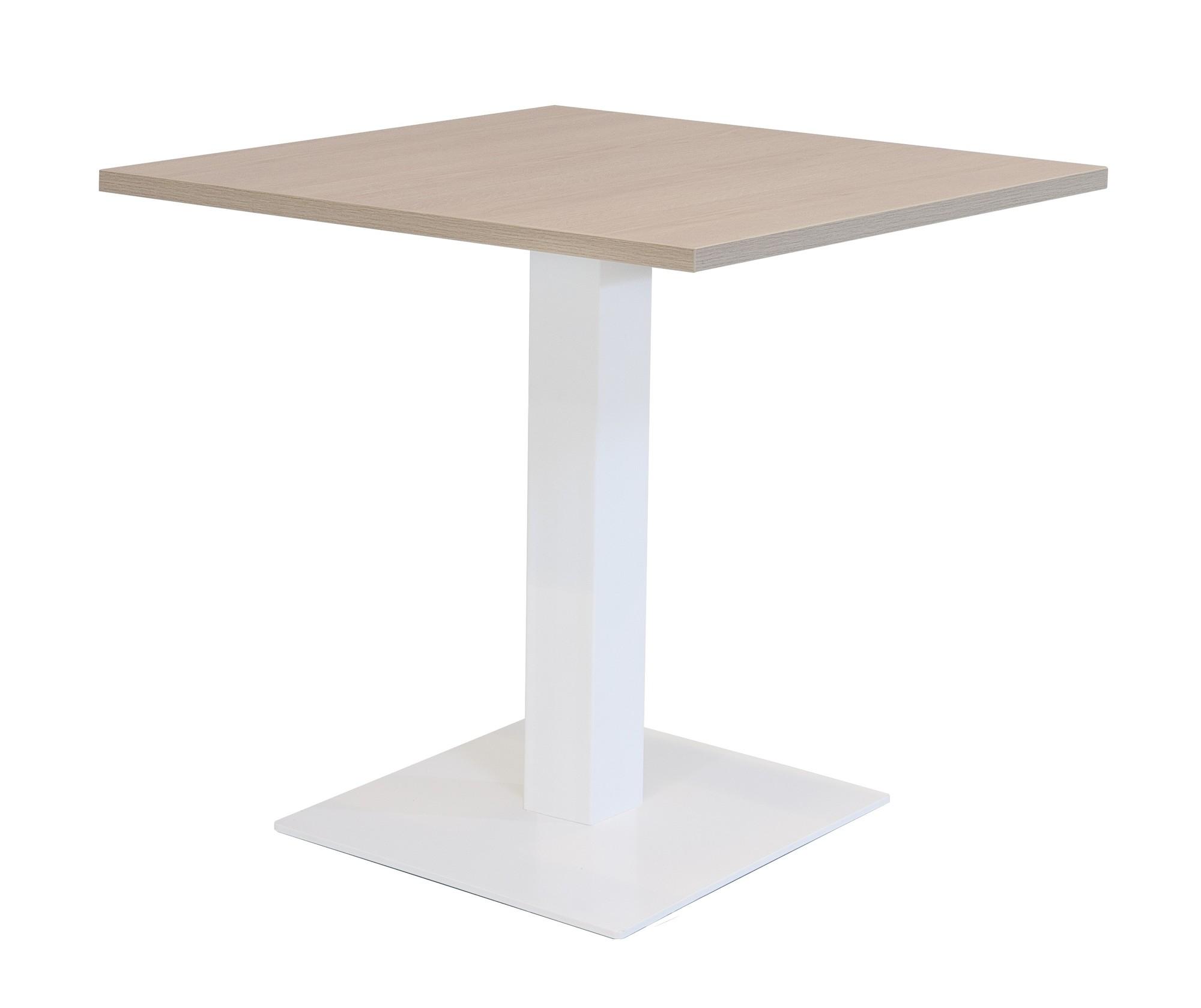 Vierkante Hoge Eettafel.Hoge Kolomtafel Met Vierkante Voet