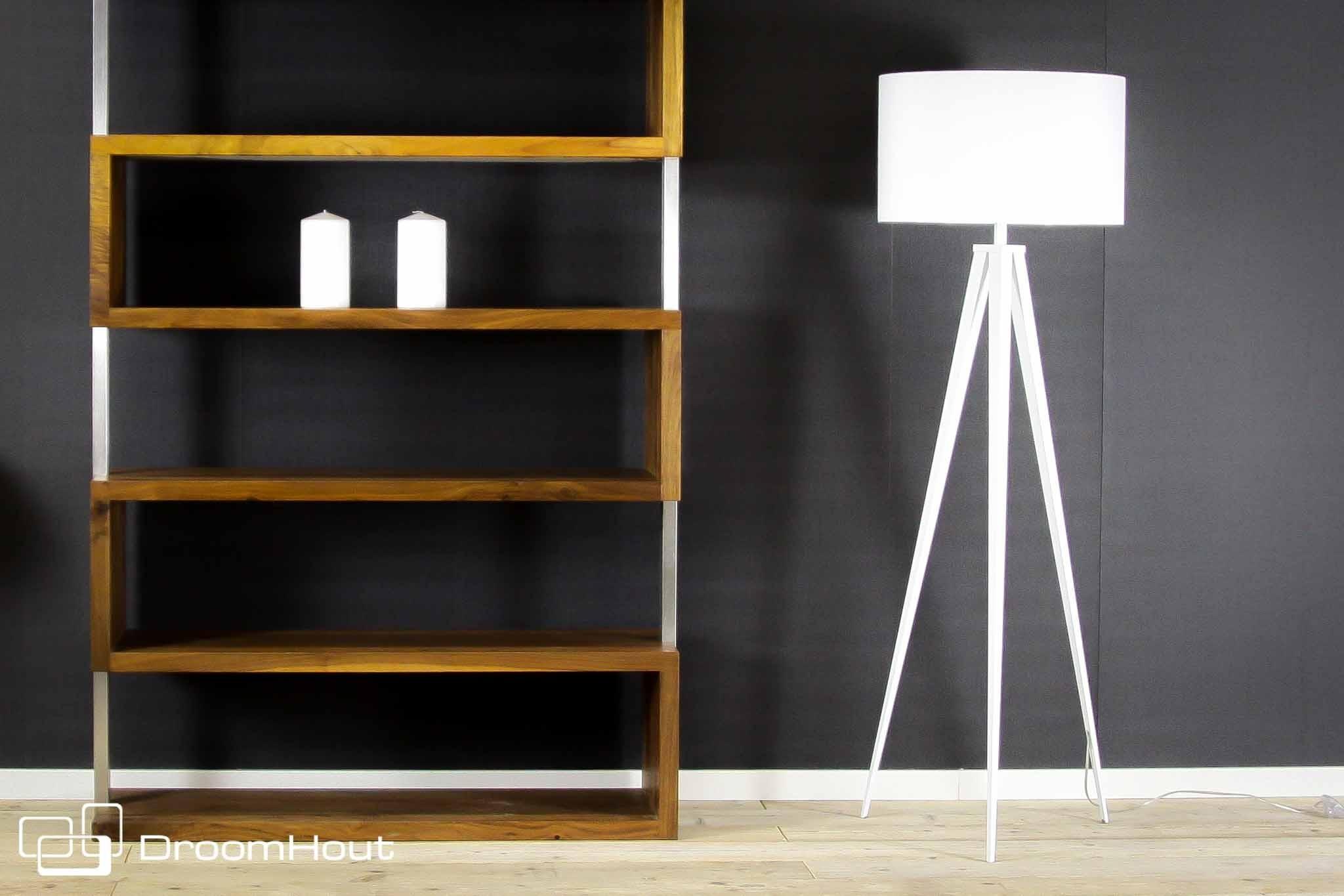 Vloerlamp met witte kap staande lampen mv kantoor