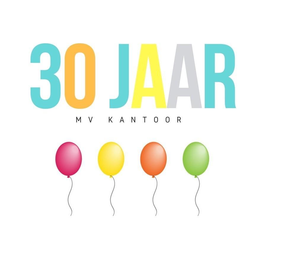 MV Kantoor bestaat 30 jaar: het hele jaar acties!