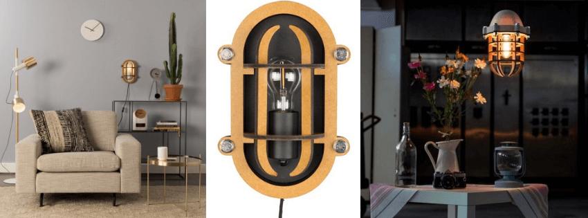 Industriële bullseye lamp