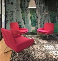 Roze loungehoek voor t-mobile