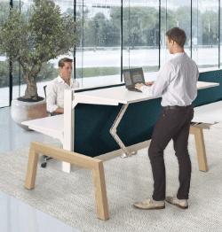 Duo zit-sta bureau Hybrid